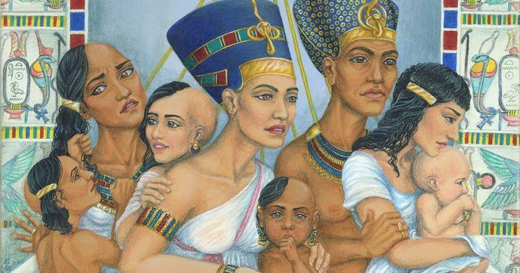 Akhenaton and family portrait ~ Ancient Egypt